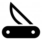 Pocket Knife Vector Icon