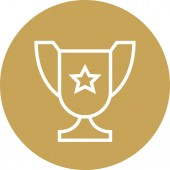 Championship Trophy First Place Outline Icon