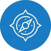 Compass Orientation Navigator Outline Icon