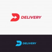 Delivery logo design Letter D with arrow