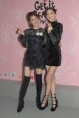 South Korean model Irene Kim, right, and Hong Kong television actress and host Priscilla Wong attend a promotional event in Hong Kong, China, 18 November 2018