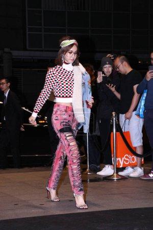Taiwanese singer Jolin Tsai arrives