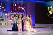 Miss Mexico Vanessa Ponce de Leon, front, winner of the 68th Miss World, poses with other Miss Continentals during the finale of the Miss World Pageant 2018 in Sanya city, south China's Hainan province, 8 December 2018