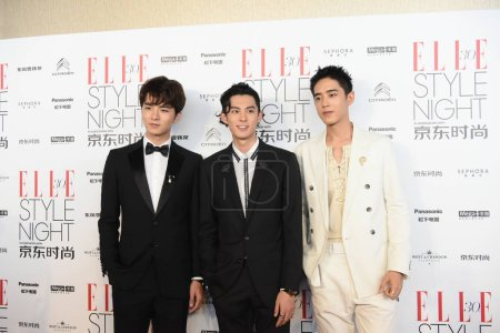 From left Chinese actors Caesar