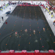 Chinese contestants compete in the freezing water ...