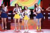 (From left) Yeri, Seulgi, Irene, and Joy of South Korean girl group Red Velvet perform during the 13th Seoul International Drama Awards 2018 in Seoul, South Korea, 3 September 2018.
