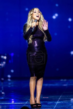 American singer Mariah Carey performs