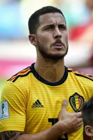 Eden Hazard of Belgium poses