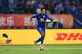 Italian-Brazilian football player Eder Citadin Martins, simply known as Eder, of Jiangsu Suning dribbles against Shandong Luneng Taishan in their 14th round match during the 2018 Chinese Football Association Super League (CSL) in Nanjing city, east C