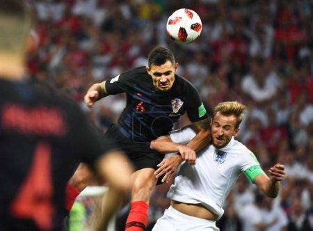 Dejan Lovren of Croatia top