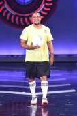 Retired Brazilian football player Roberto Carlos da Silva Rocha, more commonly known simply as Roberto Carlos, attends a press conference for a variety show in Beijing, China, 2 August 2018. *** Local Caption ***