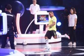 Retired Brazilian football player Roberto Carlos da Silva Rocha, more commonly known simply as Roberto Carlos, performs during a variety show in Beijing, China, 2 August 2018.