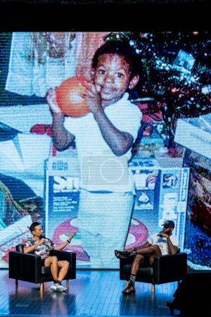 NBA star LeBron James right