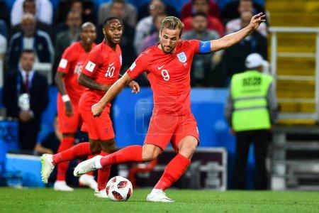 Harry Kane of England makes