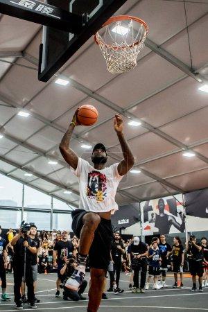 NBA star LeBron James of
