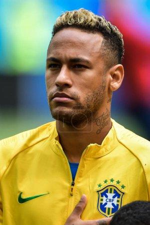 Neymar of Brazil poses before