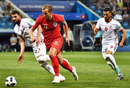 Harry Kane of England center