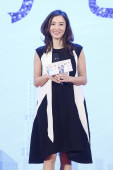 Hong Kong actress Cecilia Cheung attends a press conference for her new TV series