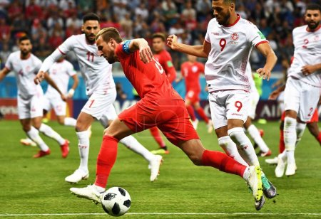 Harry Kane of England center