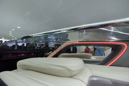 Photo for A Hongqi all-new concept car is on display during the 15th Beijing International Automotive Exhibition, also known as Auto China 2018, in Beijing, China, 25 April 2018 - Royalty Free Image