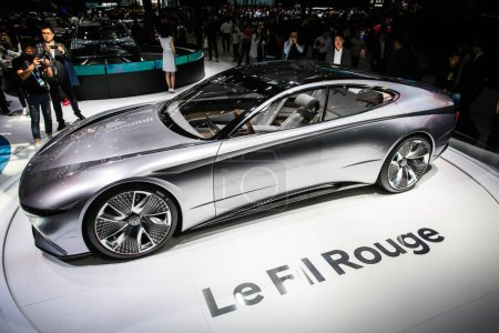 Photo for A Le Fil Rouge concept car is on display during the 15th Beijing International Automotive Exhibition, also known as Auto China 2018, in Beijing, China, 25 April 2018 - Royalty Free Image