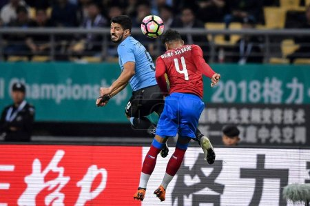 Luis Suarez top of Uruguay