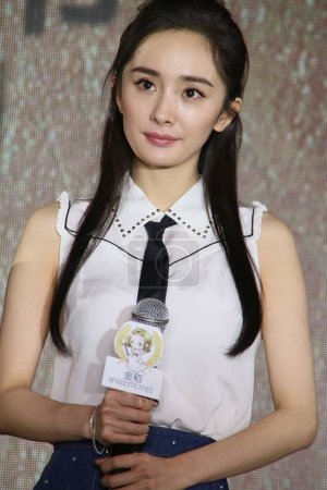 Chinese actress Yang Mi attends a promotional even...
