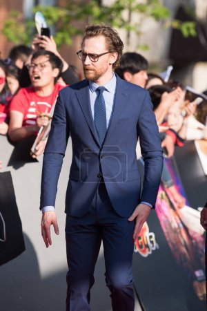 English actor Tom Hiddleston arrives