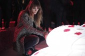 French model Caroline de Maigret is pictured as she attends the opening event of Chanel's Mademoiselle Prive exhibition in Hong Kong, China, 11 January 2018.