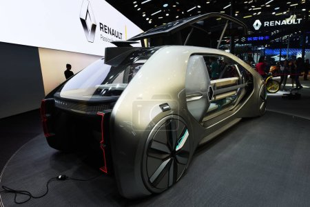 Photo for A Renault EZ-GO concept car is on display during the 15th Beijing International Automotive Exhibition, also known as Auto China 2018, in Beijing, China, 25 April 2018 - Royalty Free Image