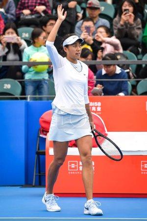 Zhang Shuai of China waves
