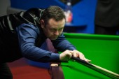 Stephen Maguire of Scotland plays a shot to Ronnie O'Sullivan of England in their first round match during the 2018 Betfred World Snooker Championship at the Crucible Theatre in Sheffield, UK, 21 April 2018.