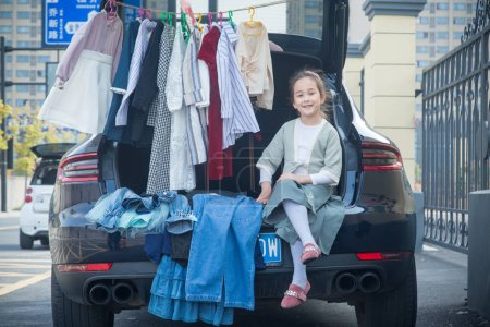 8-year-old girl Melissa whose father is a French a...