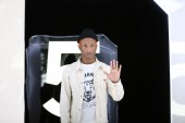 American rapper singer Pharrell Williams is pictured as he attends the opening event of Chanel's Mademoiselle Prive exhibition in Hong Kong, China, 11 January 2018.