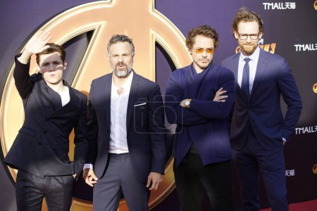 From left English actor Tom
