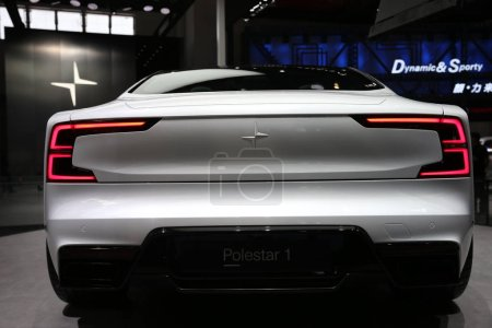 Photo for A Polestar 1 of Polestarcars, an offshoot of Volvo Car Group, is on display during the 15th Beijing International Automotive Exhibition, also known as Auto China 2018, in Beijing, China, 25 April 2018 - Royalty Free Image