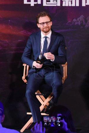 English actor Tom Hiddleston attends