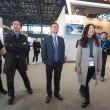 Jack Ma or Ma Yun, center, chairman of Chinese e-c...