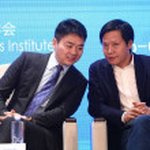Richard Liu Qiangdong, left, Chairman and CEO of o...
