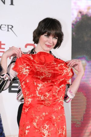 American actress Milla Jovovich attends