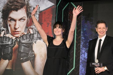 American actress Milla Jovovich left