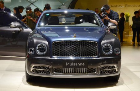 A Bentley Mulsanne is on