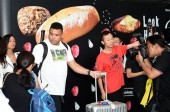 Brazilian football star Ronaldo Luis Nazario de Lima, third left, commonly known as Ronaldo, is surrounded by a crowd of fans at the Hong Kong International Airport after he landed in Hong Kong, China, 23 May 2017.