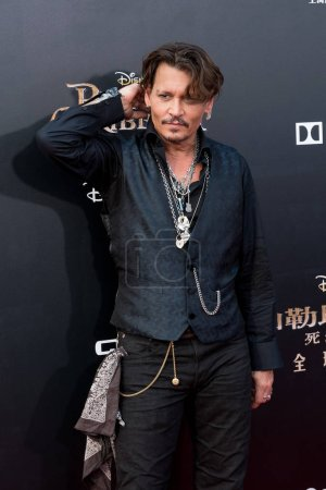 American actor Johnny Depp arrives