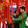 Local Chinese residents shop for red lanterns, dec...