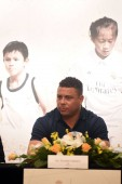 Brazilian football star Ronaldo Luis Nazario de Lima, commonly known as Ronaldo, attends the Real Madrid Foundation Clinic in Hong Kong & Southern China Project Presentation Press Conference in Hong Kong, China, 27 May 2017.