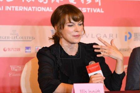 American actress Milla Jovovich attends
