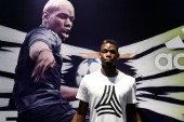 French football player Paul Pogba of English Premier League soccer club Manchester United attends a promotional event for Adidas Tango League in Hong Kong, China, 19 June 2017.