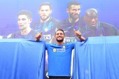 Italian football player Danilo D'Ambrosio of Inter Milan is pictured during a fan meeting in Nanjing city, east China's Jiangsu province, 22 July 2017.