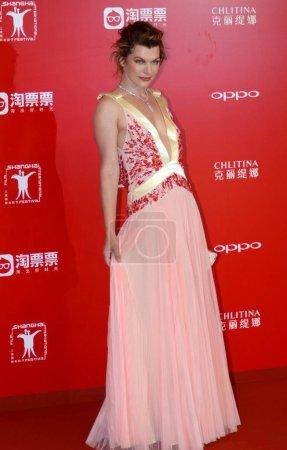 American actress Milla Jovovich arrives